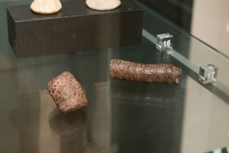 Soubor:Fragments of phallic symbols, stone, Prague, NG Vp 1613+1636, 151769.jpg